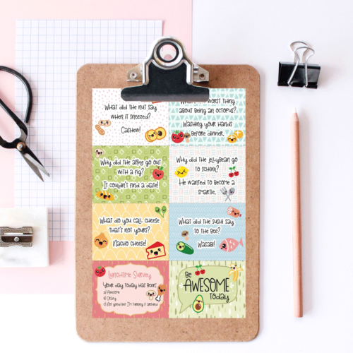 Free Printable Super Kawaii Lunchbox Notes