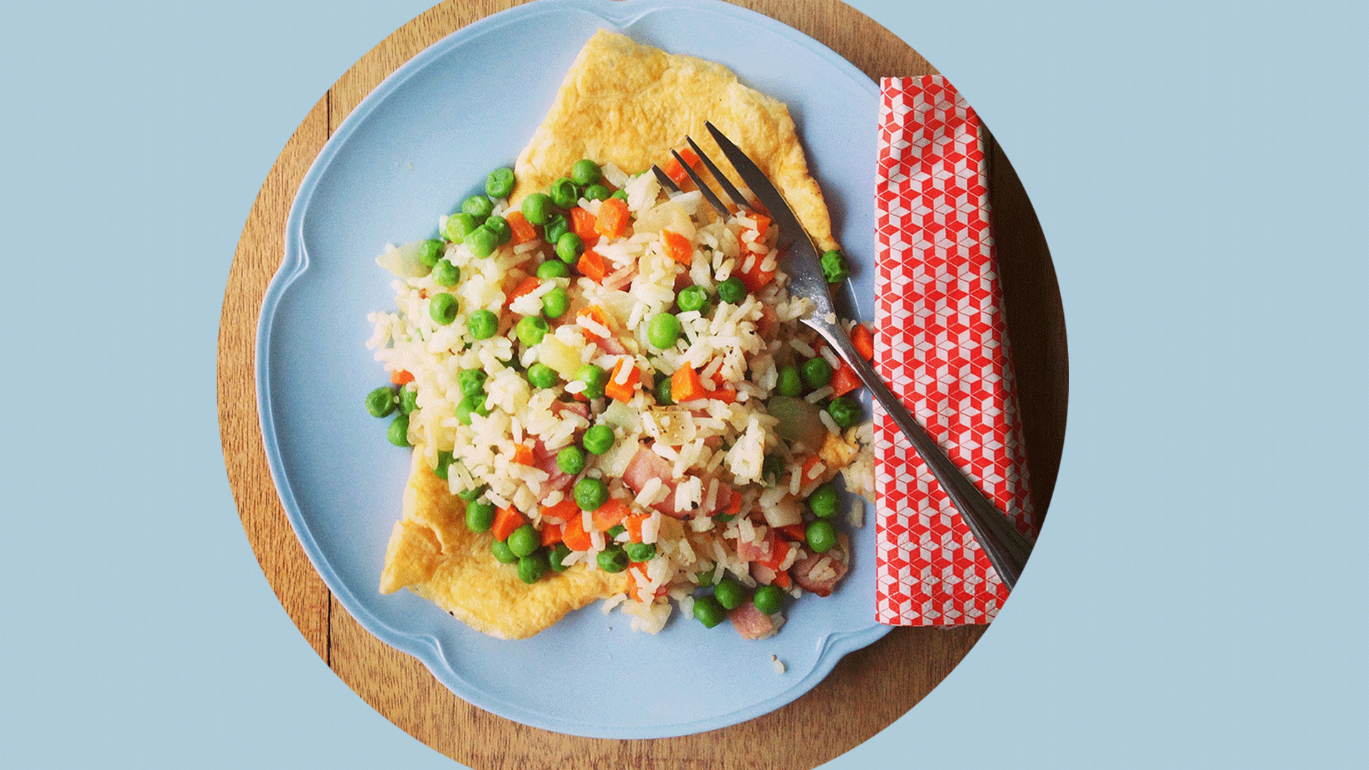 Quick Fried Rice + Easy Omelette