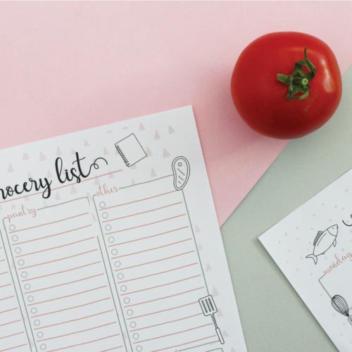 Free Grocery List + Menu Planner Printables