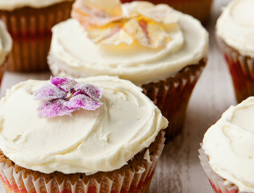 White Chocolate And Lavender Cupcakes
