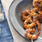 Barbecued Asian Prawns With Noodle Salad