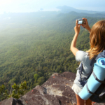 Girl-hiking-taking-picture2160