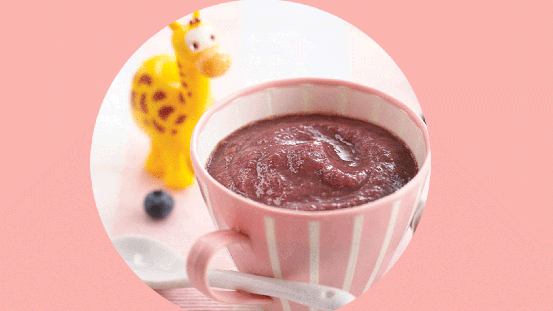 Blueberry, Pear And Banana Puree