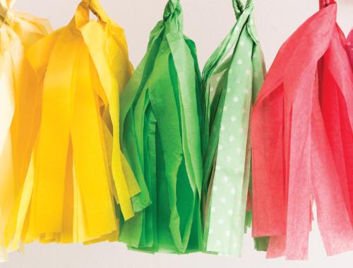 DIY Tissue-Paper Tassel Garland