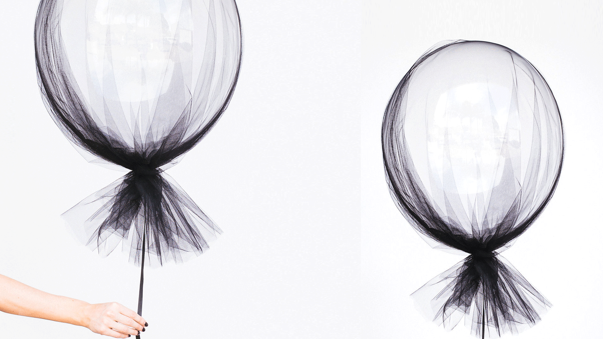 DIY Tulle-Covered Balloons