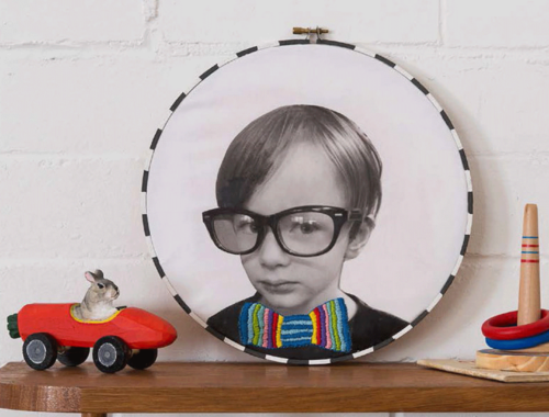 DIY Hooped Hipster Portrait