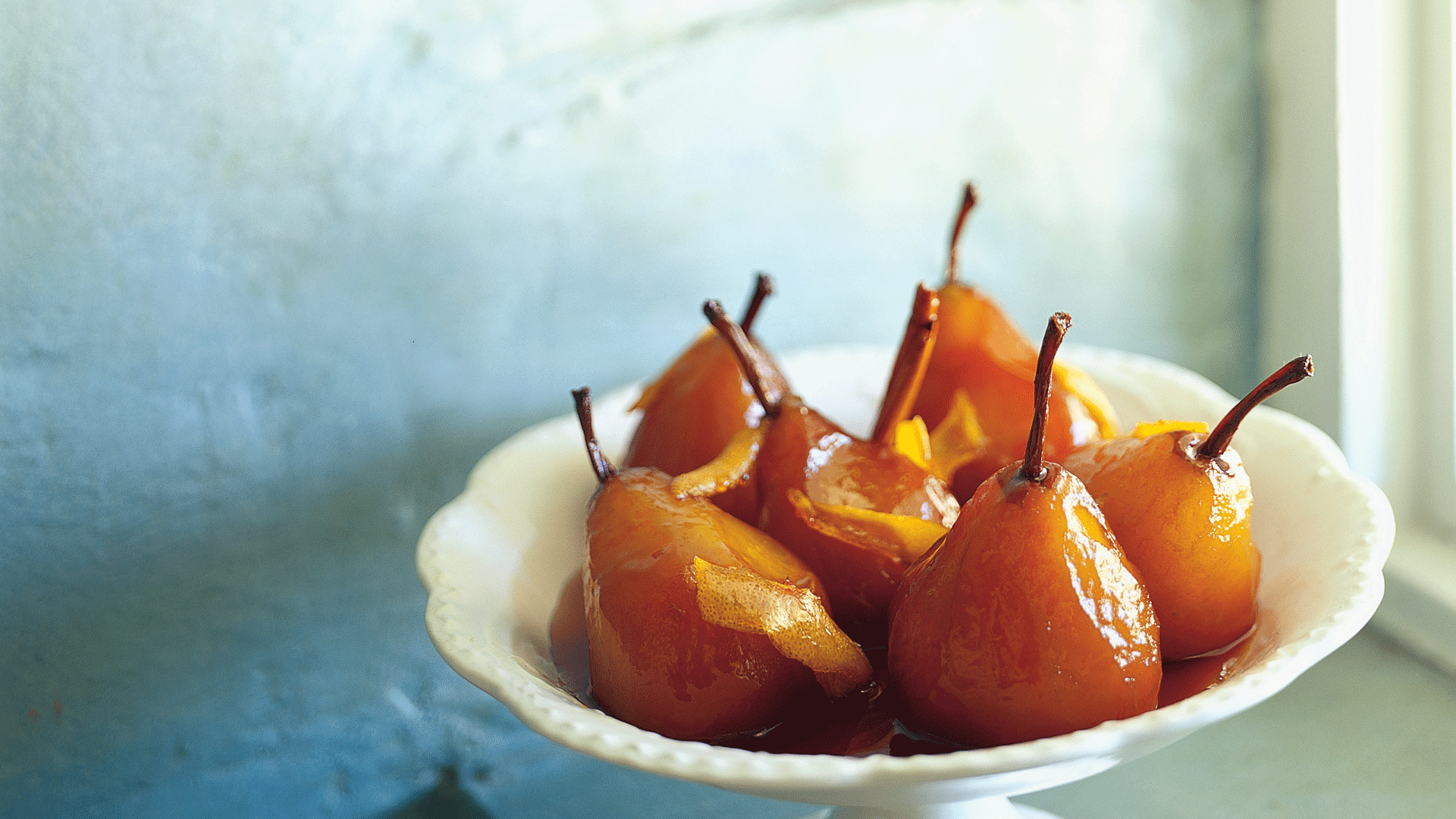 Glazed Pears With Mascarpone