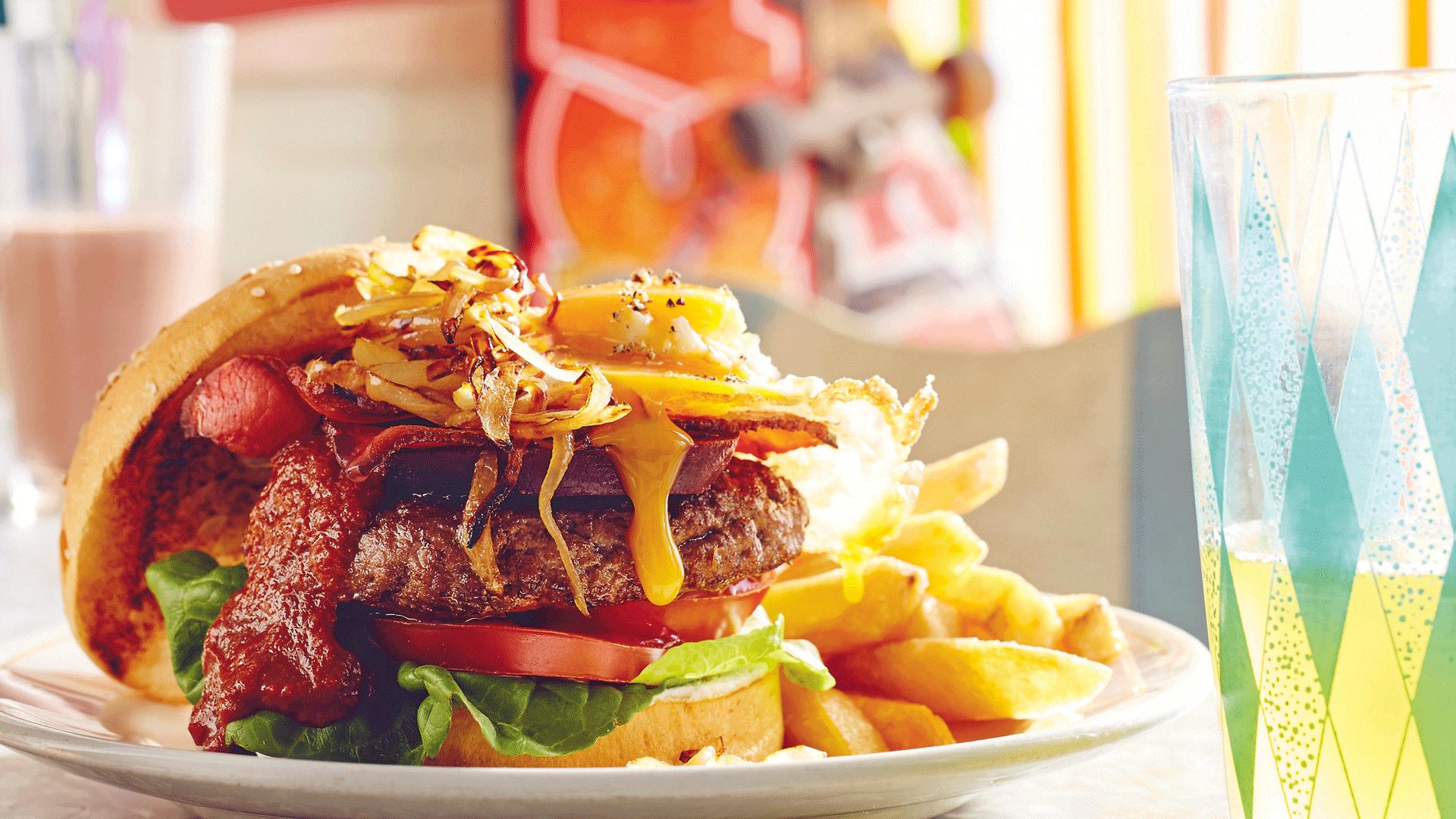 Milkbar Memories + Burger With 'The Lot'