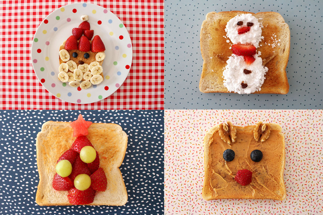 Christmas Toast Art For Kids
