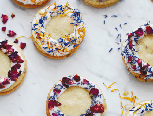 DIY Floral Biscuits