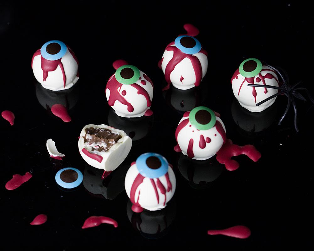 Chocolate eyeball truffles