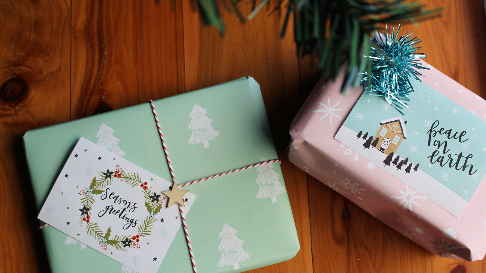 free christmas gift wrapping printables