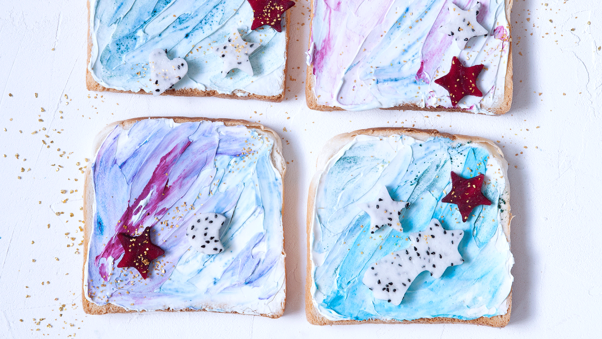 How To Make Mermaid Toast