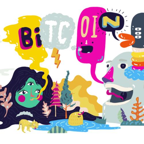 Bitcoin cartoon
