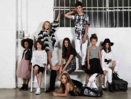 The models of RUN: Kids Fashion Runway in a promotional shoot