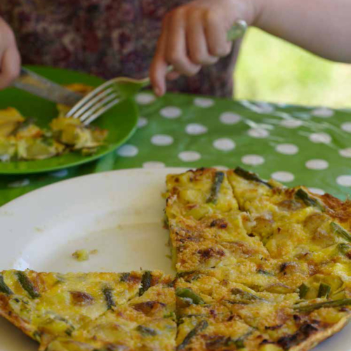 Family friendly frittata