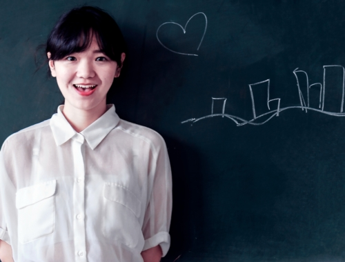 asian teacher-blackboard-business-