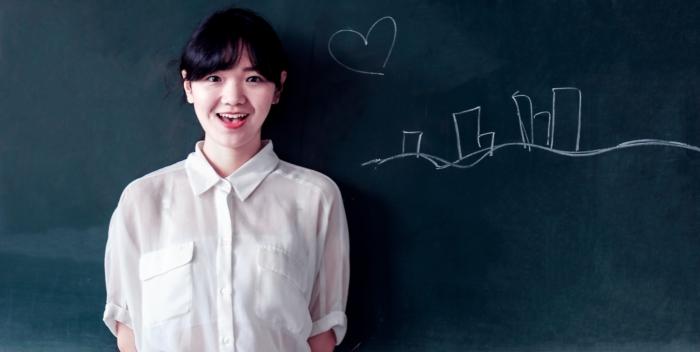 asian teacher-blackboard-business-