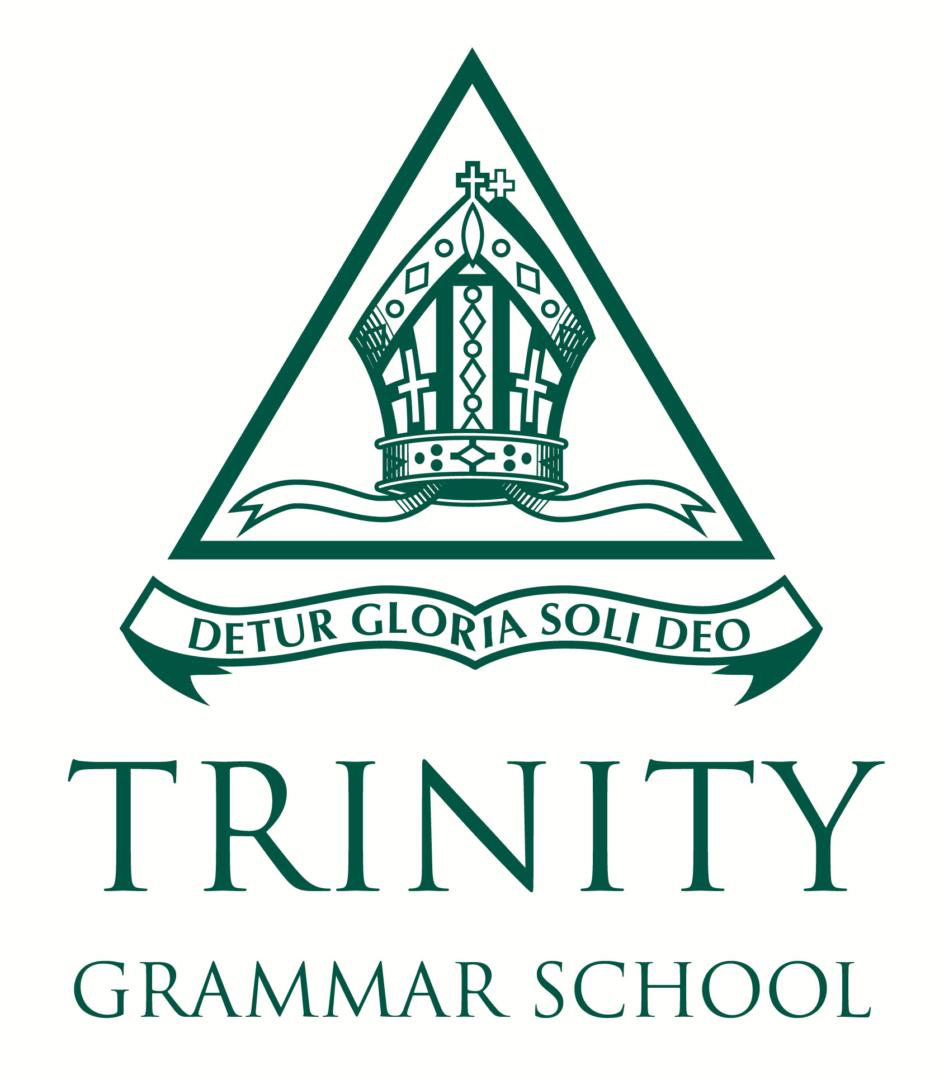 Trinity-Grammar_crest_stacked_green