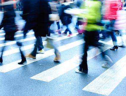 City - Walking Blur