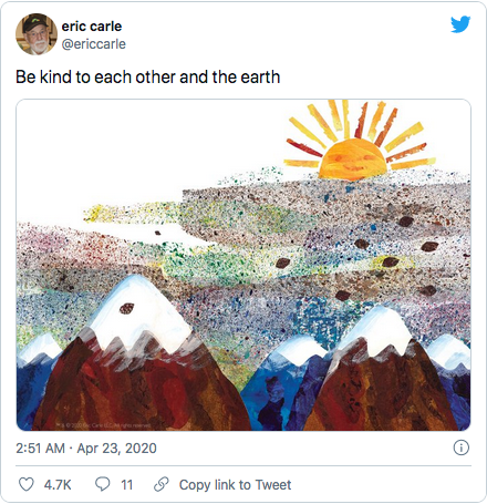 Eric Carle tweet