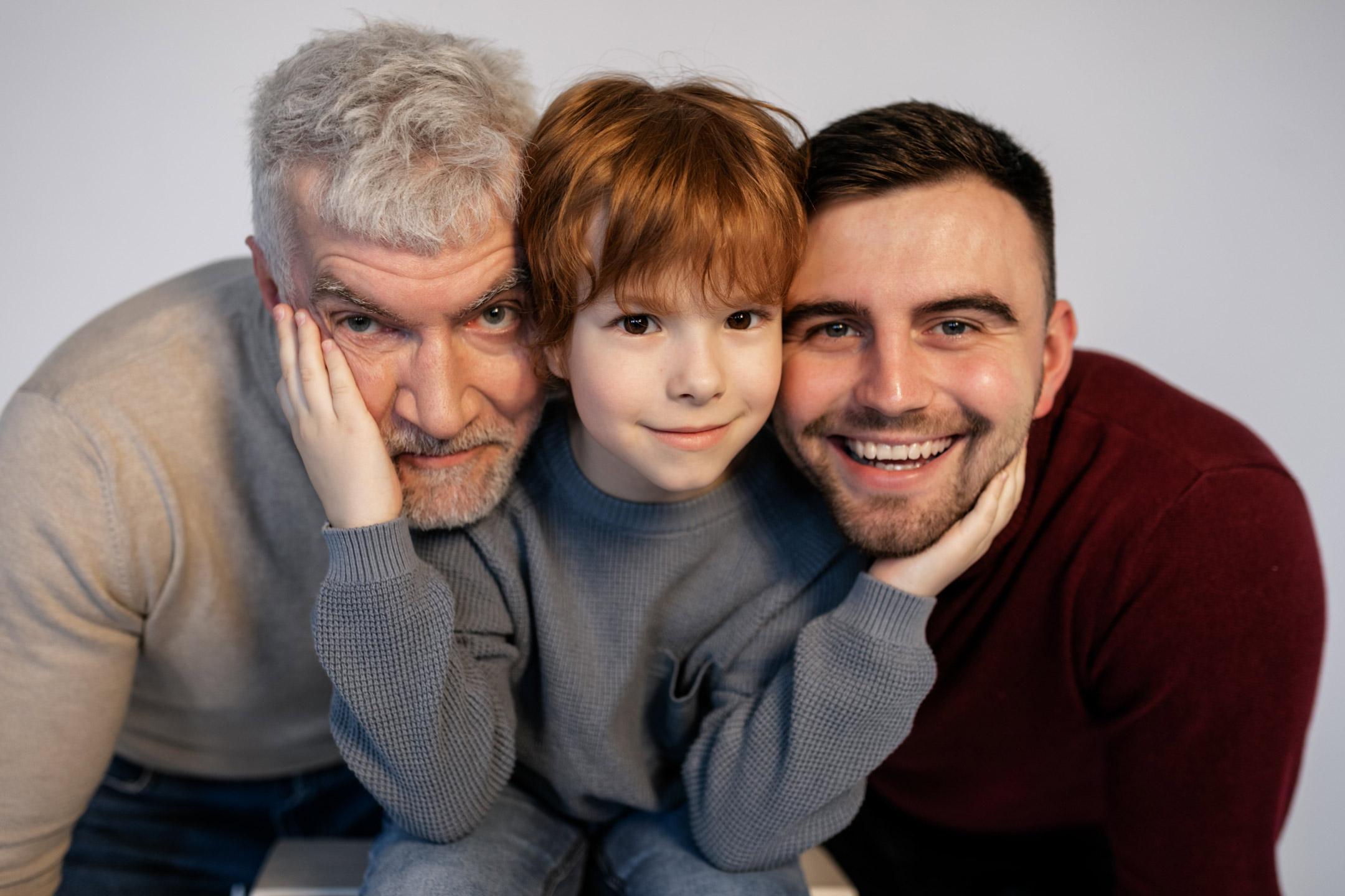 grandad-dad-with-son